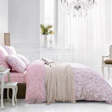 Комплект постельного белья Люкс-Сатин на резинке AR080, евро с простыней 140х200 в интернет-магазине Моя постель