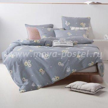 Комплект постельного белья Делюкс Сатин на резинке LR165, семейный 160х200 в интернет-магазине Моя постель