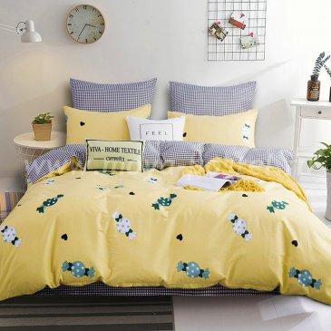 Комплект постельного белья Делюкс Сатин на резинке LR168, евро 160х200 в интернет-магазине Моя постель