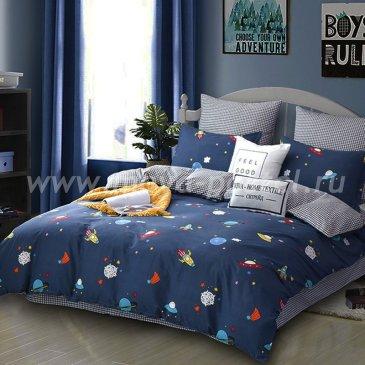 Комплект постельного белья Делюкс Сатин на резинке LR173 евро (180*200) в интернет-магазине Моя постель