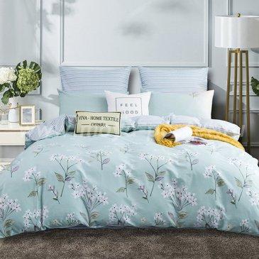 Комплект постельного белья Делюкс Сатин  LR179 на резинке(160*200) двуспальный в интернет-магазине Моя постель