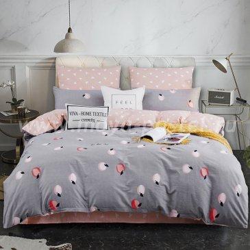 Комплект постельного белья Делюкс Сатин LR182 на резинке 160*200, двуспальный в интернет-магазине Моя постель