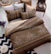 Подарочный комплект постельного белья из сатина AC002, коричневый в интернет-магазине Моя постель