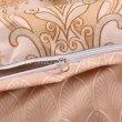 Бежевое постельное белье с растительным узором, евро в интернет-магазине Моя постель - Фото 4
