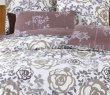 Евро комплект бежевого постельного белья сатин C261 (50*70) в интернет-магазине Моя постель - Фото 3