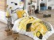 Постельное белье из поплина «LIVE MUSIC», желтое с музыкальным принтом, полутороспальное в интернет-магазине Моя постель