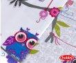 Лиловое постельное белье с совами в интернет-магазине Моя постель - Фото 3
