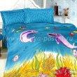 Постельное белье из сатина Kamilla Дельфин-3-5 в интернет-магазине Моя постель